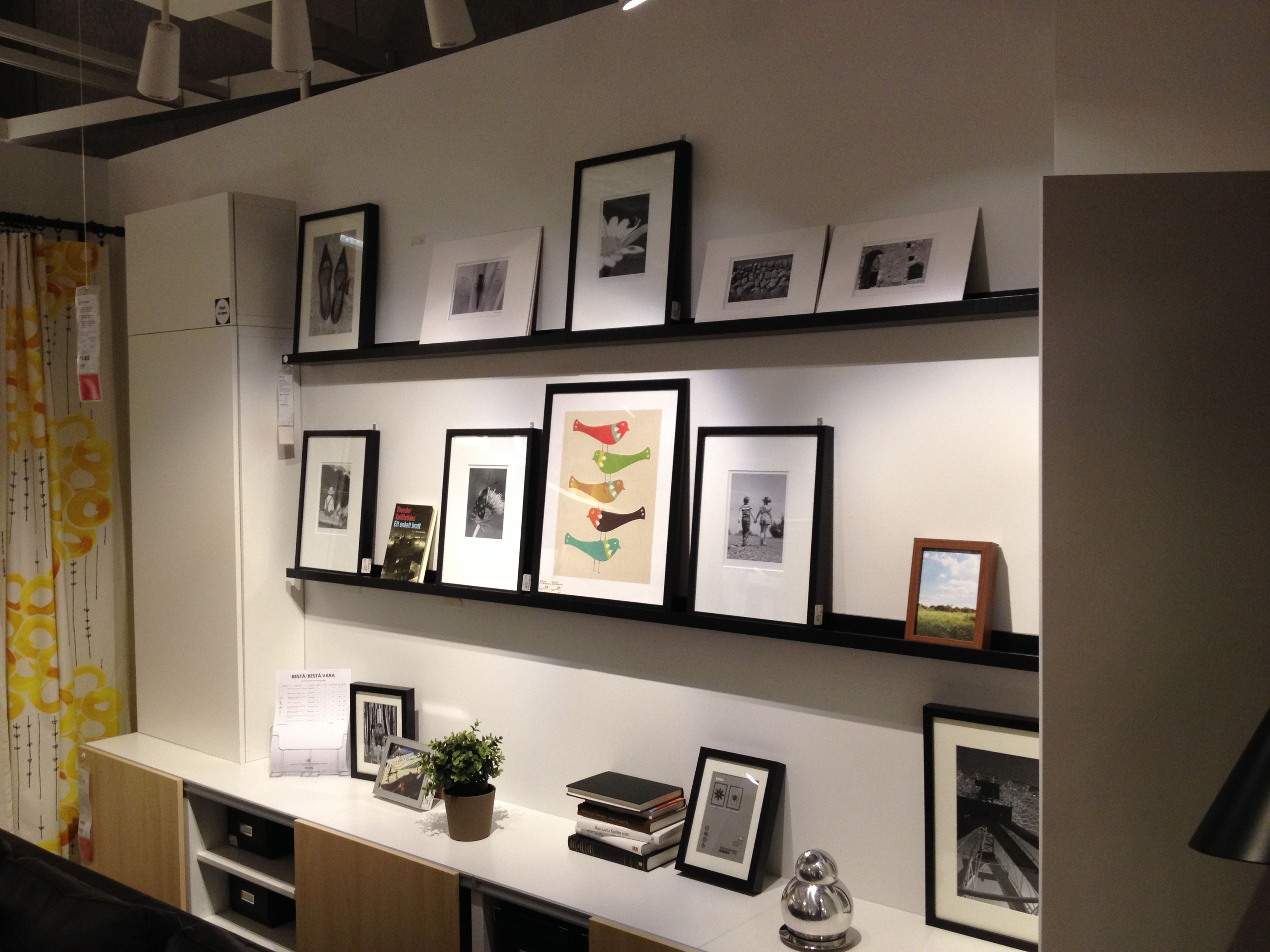 Best Ikea Picture Rail With Ribba Frames Ikea Pictures Interior Ikea 400 x 300