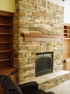 Using Cultured stone, Cobblefield in Texas Cream on your fireplace ...