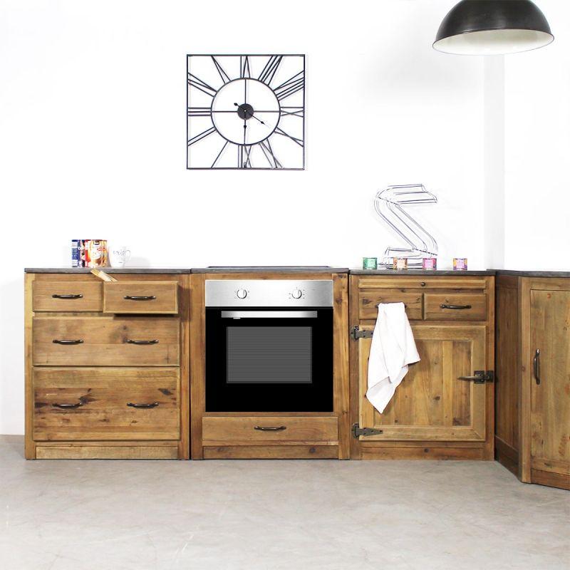 Meuble Cuisine Pour Four Et Plaques De Cuisson Champetre Avec Images Meuble Cuisine Meuble Mobilier De Salon