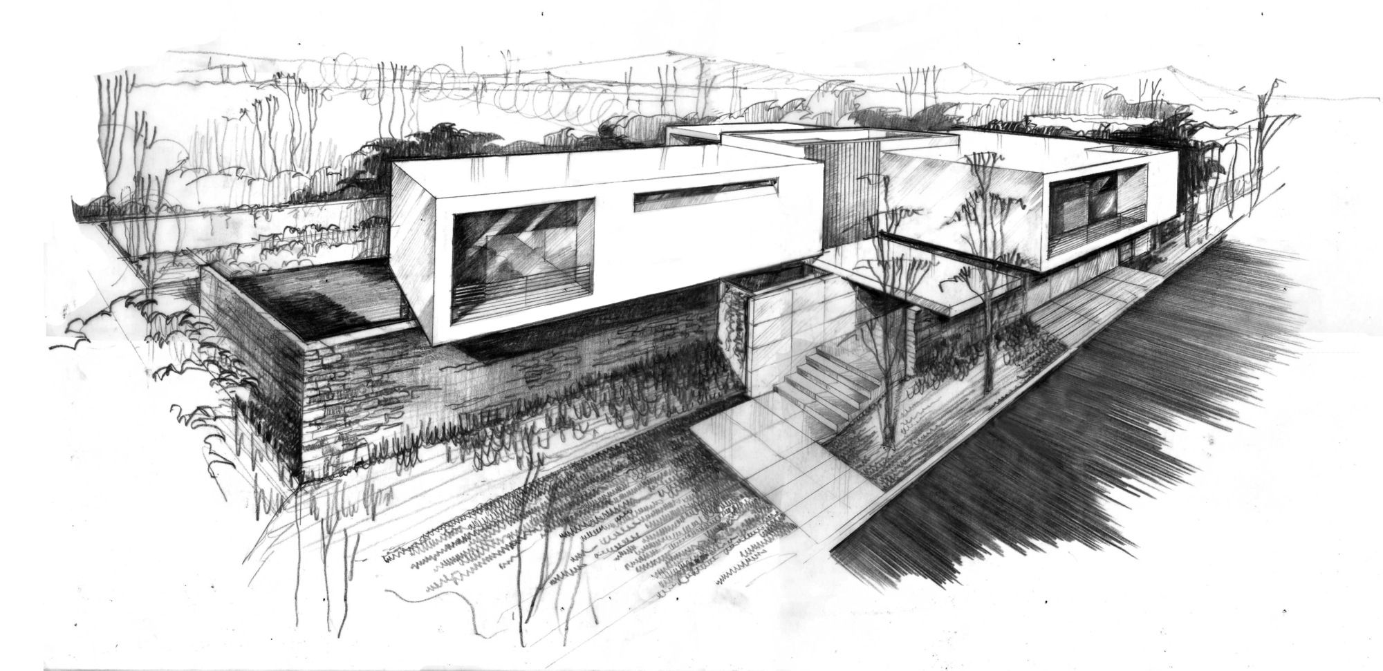 Galería de Casa Roja / Hernández Silva Arquitectos - 33 | Dibujo  arquitectonico, Ilustración de arquitectura, Boceto arquitectónico