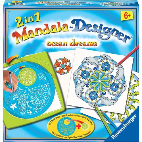 Ravensburger 2-in-1 Mandala Designer, Ocean Dreams