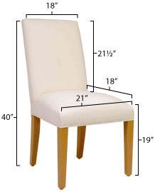 Stylish Custom Designed Parsons Chair Slipcovers Designed To Fit Your  Chairu0027s Dimensions!
