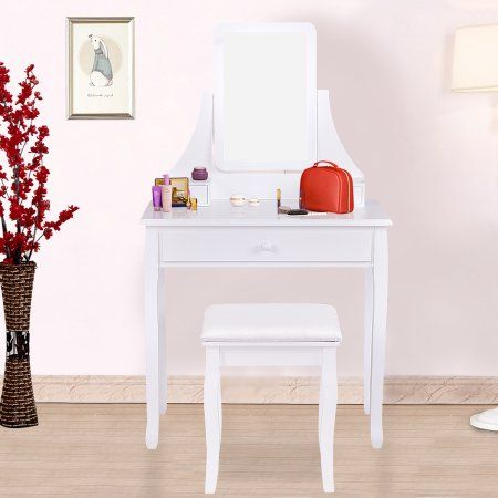 free shipping buy gymax bathroom vanity dressing table set w 3