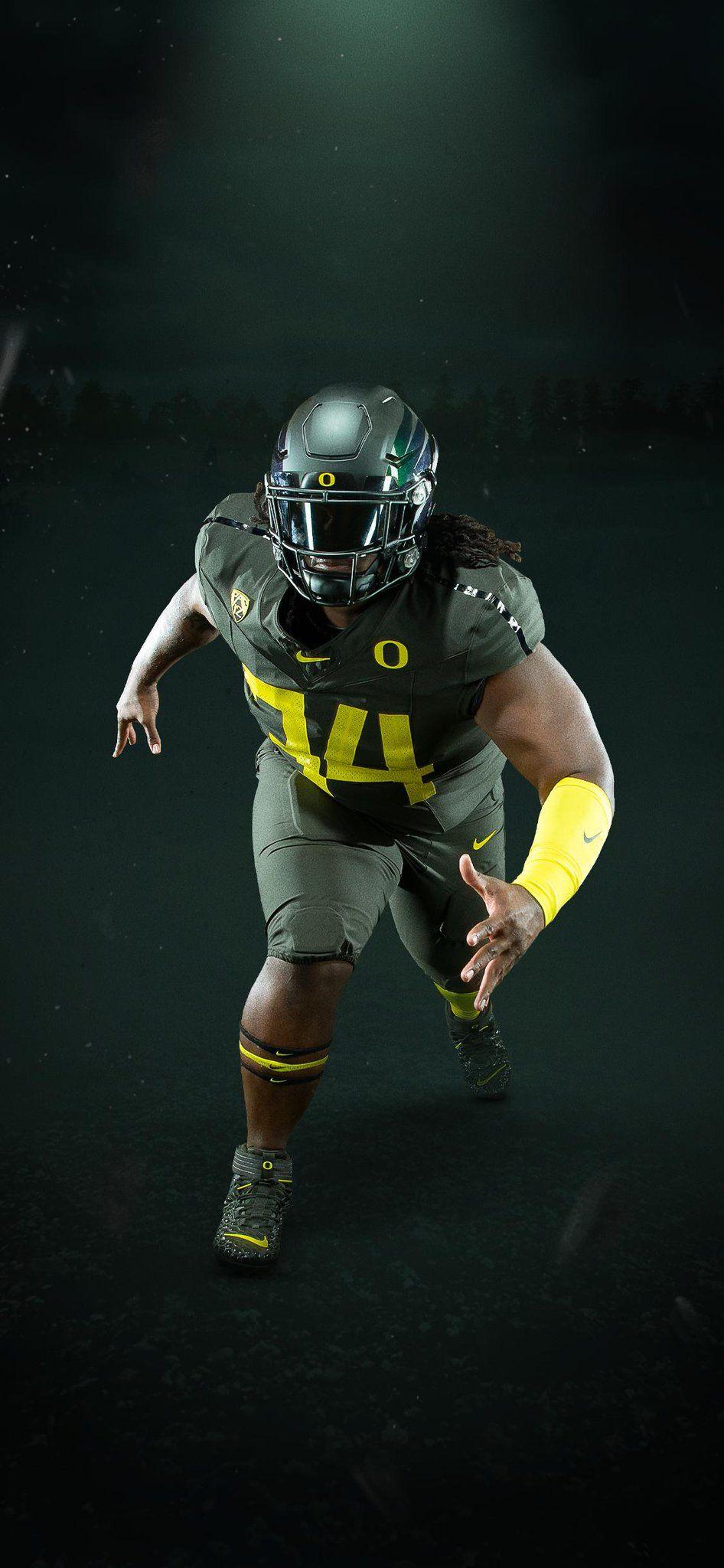 2019 University Of Oregon Ducks Football Uniforms All Nightmare Green Oregon Ducks Uniforms Oregon Ducks Football Oregon Ducks