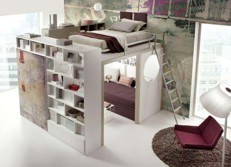 Hochbett Im Teenager Zimmer Moderne Einrichtungsideen Von