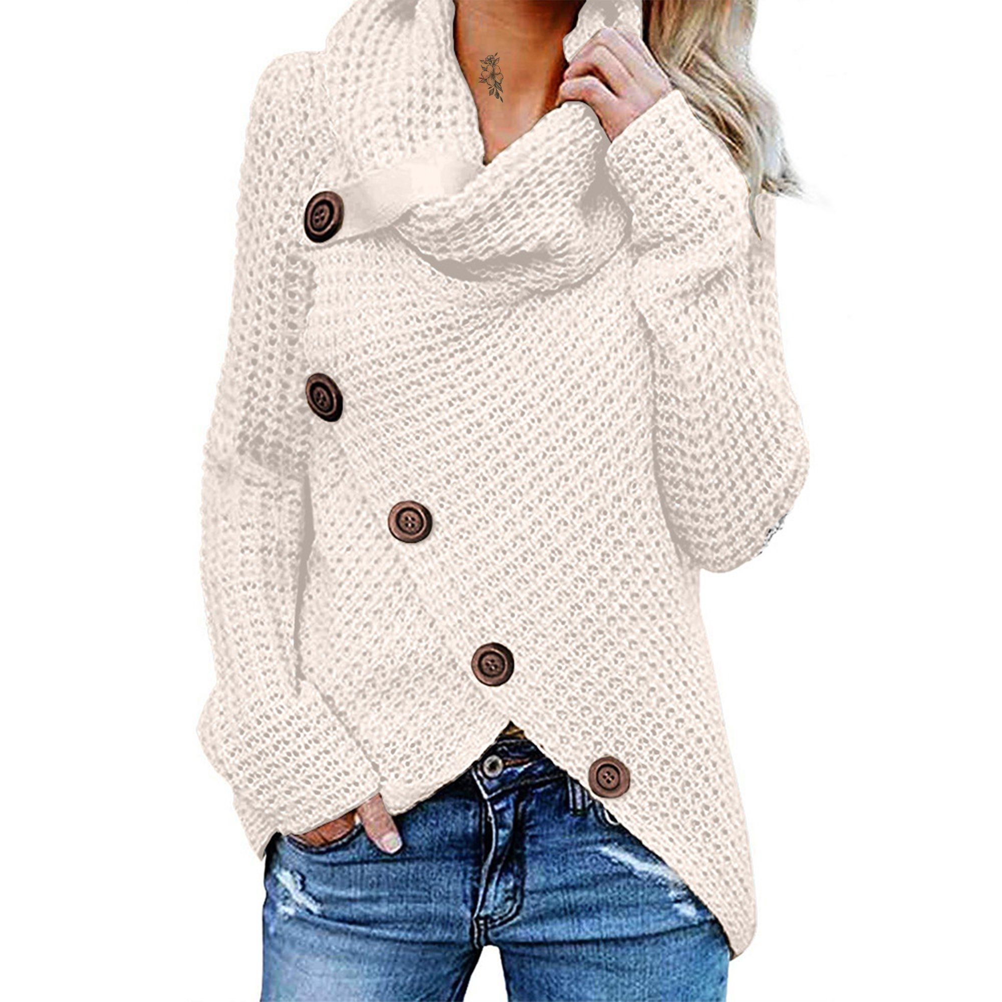 Women's Winter Warm Long Sleeve Turtleneck Knitted
