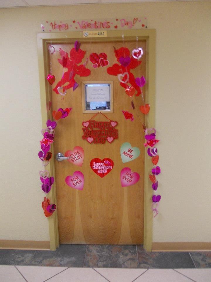 Door With Valentineu0027s Day Decorations