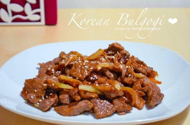 Resep Korean Bulgogi Oleh Mrs Primpuna Resep Resep Makanan Resep Masakan Korea Bulgogi