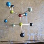 Wooden molecule. Saw this at the craft market, why didn't I buy it?