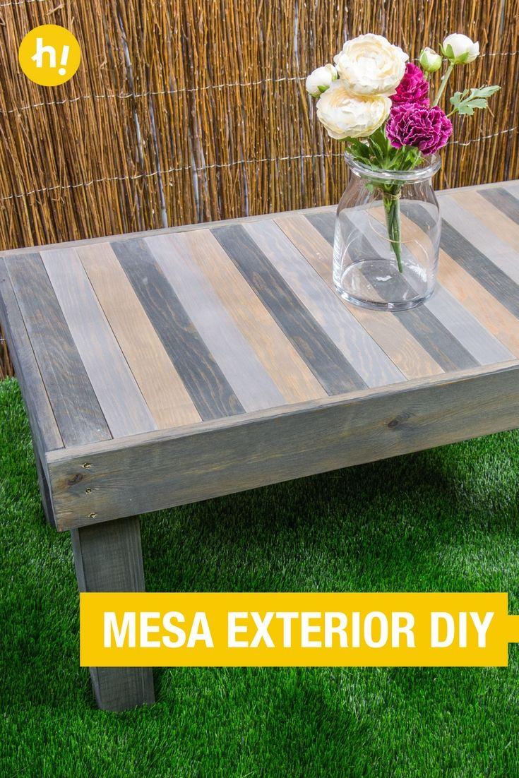 Cómo hacer una mesita para el jardín | Pinterest | Mesa de madera ...