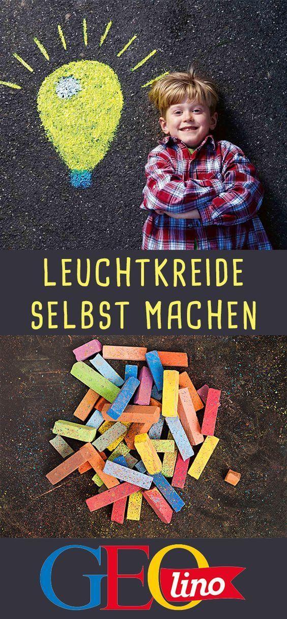 Straßenmalkreide: Spiele & Anleitung zum Selbermachen #geisterbasteln