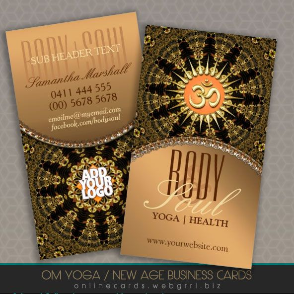 Arabesque mandala gold om new age business card business cards arabesque mandala gold om new age business card colourmoves