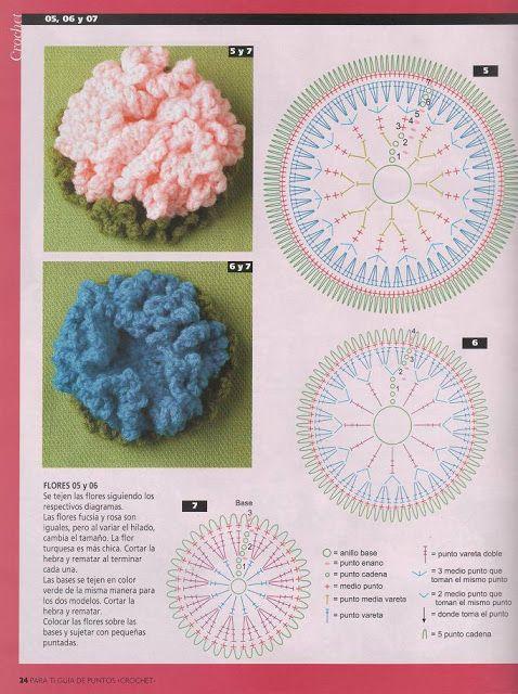 Patrón #908: Flor a Ganchillo   CTejidas [Crochet y Dos Agujas]