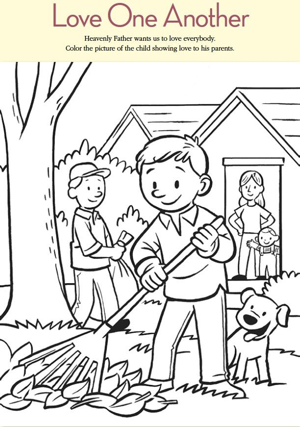ctr coloring page lds - lds games color time love one another ctr