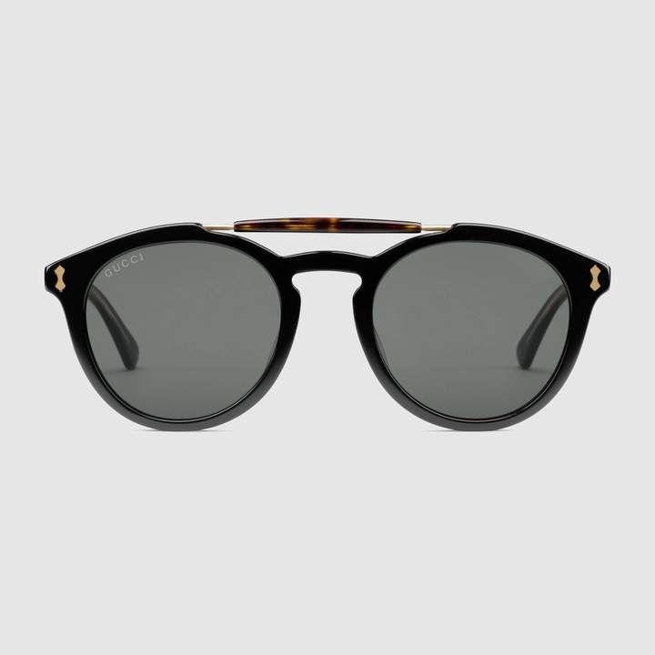b75068579e2 Gucci Round-frame acetate sunglasses