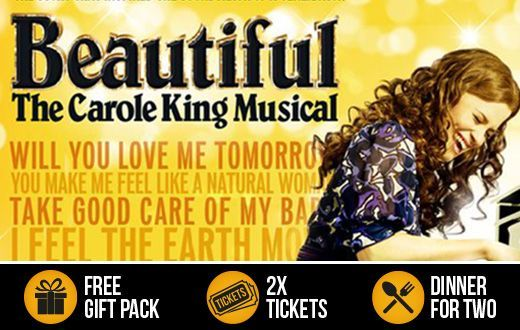 """See """"Beautiful, The Carole King Musical"""" plus a Meal for Two at Celebrate in London. bit.ly/AWestEndShow #cruise #sales #adventure"""