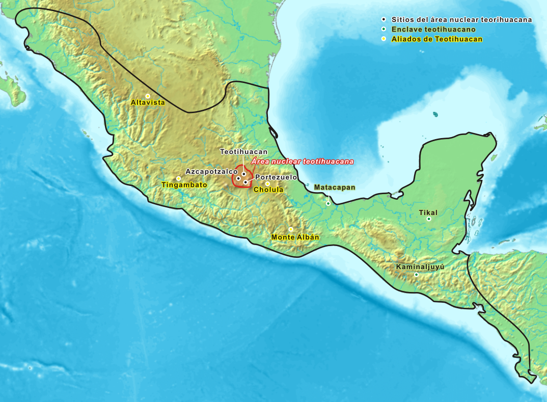 Teotihuacan World Map.Map Of Teotihuacan Teotihuacan Also Written Teotihuacan Was A Pre