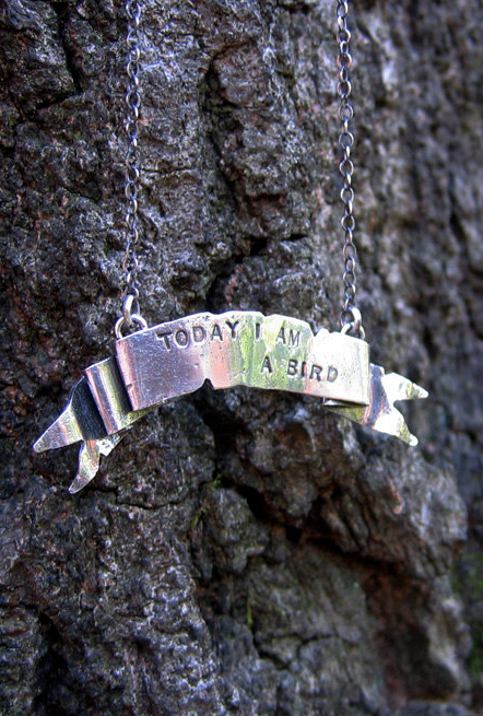 Customized banner necklace