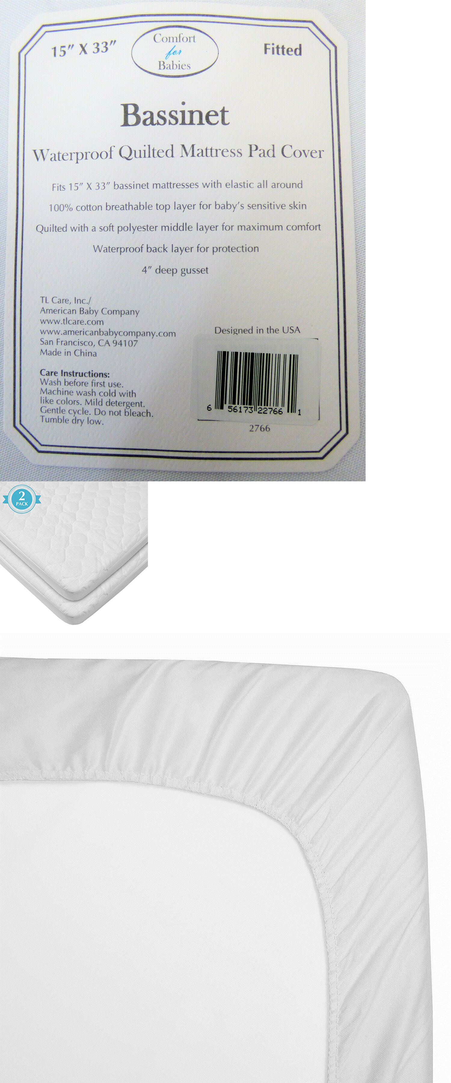 Bassinet Matress Protector Mattress Pads And Covers 162041 American Baby Company Waterproof