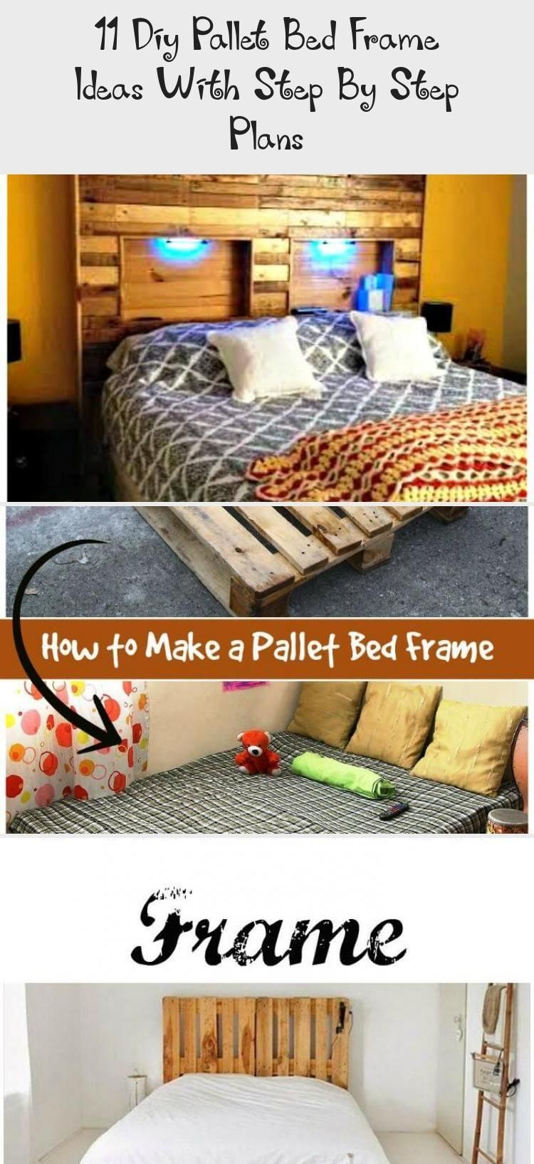 11 Diy Pallet Bed Frame Ideas With Step By Step Plans - Pallet -  Easy But Great Wooden Pallet Bed Frame – DIY Pallet Furniture Projects #diypalletBedFrame #diypal - #Bed #boysbedroom #DIY #frame #ideas #pallet #plans #sofabeddiy #Step #woodenbeddiy