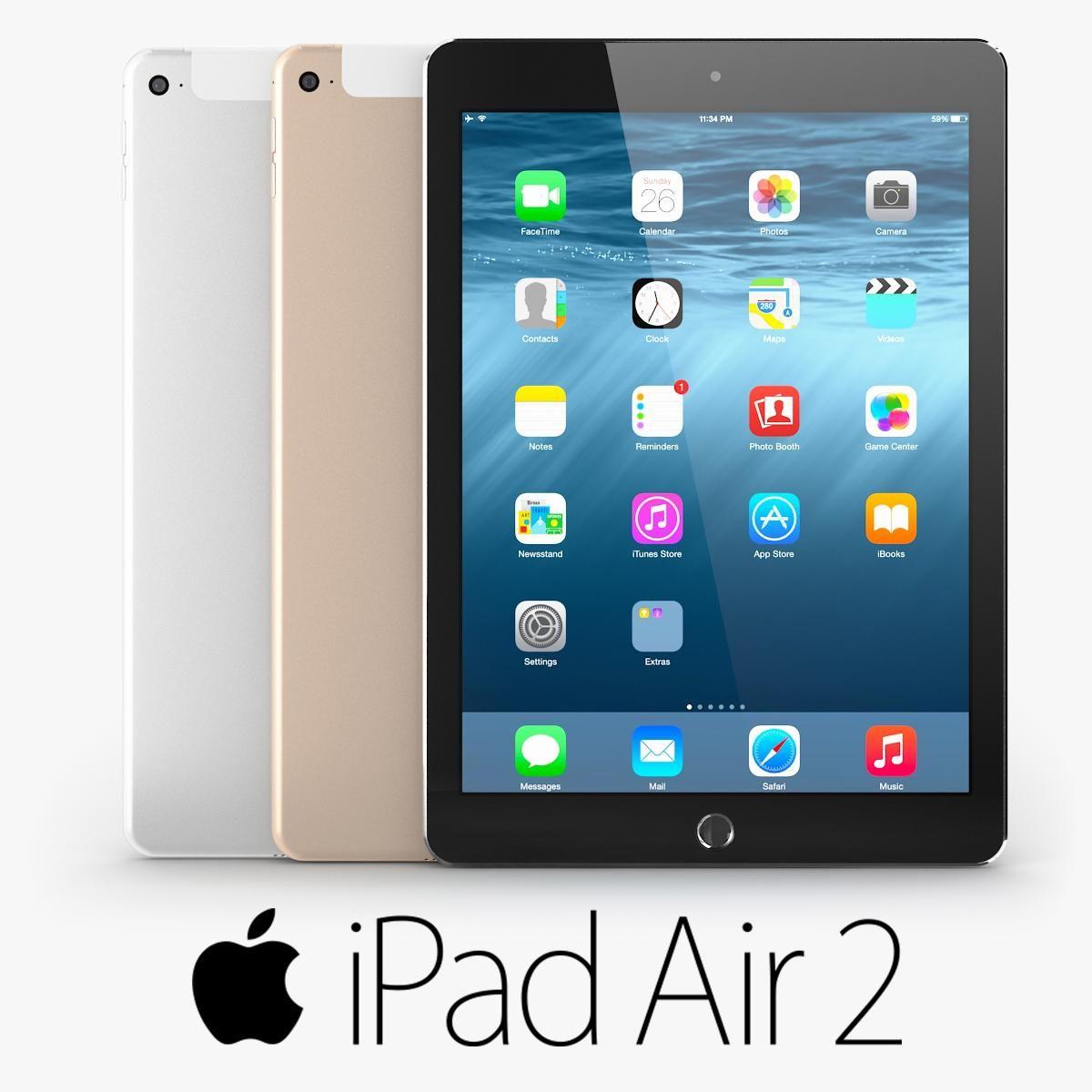 Apple ipad air 2 3d model ad ipadapplemodelair