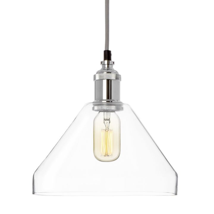 A vintage classic made modern the alton pendant light highlights the simple utility of great industrial design finished in chrome this understated