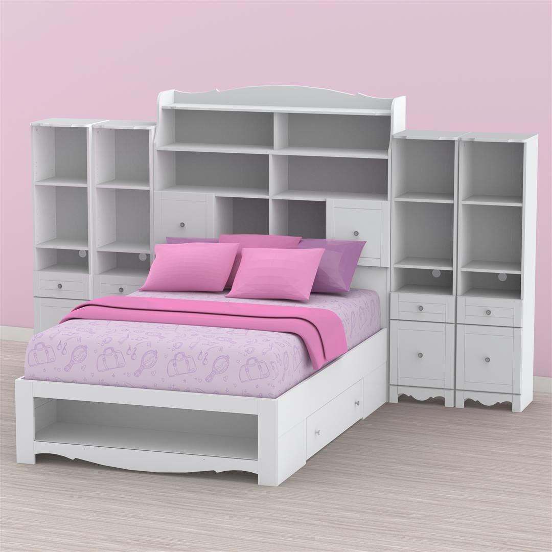 nexera pixel youth full size tall bookcase storage bedroom collection kid stuff storage ideas. Black Bedroom Furniture Sets. Home Design Ideas