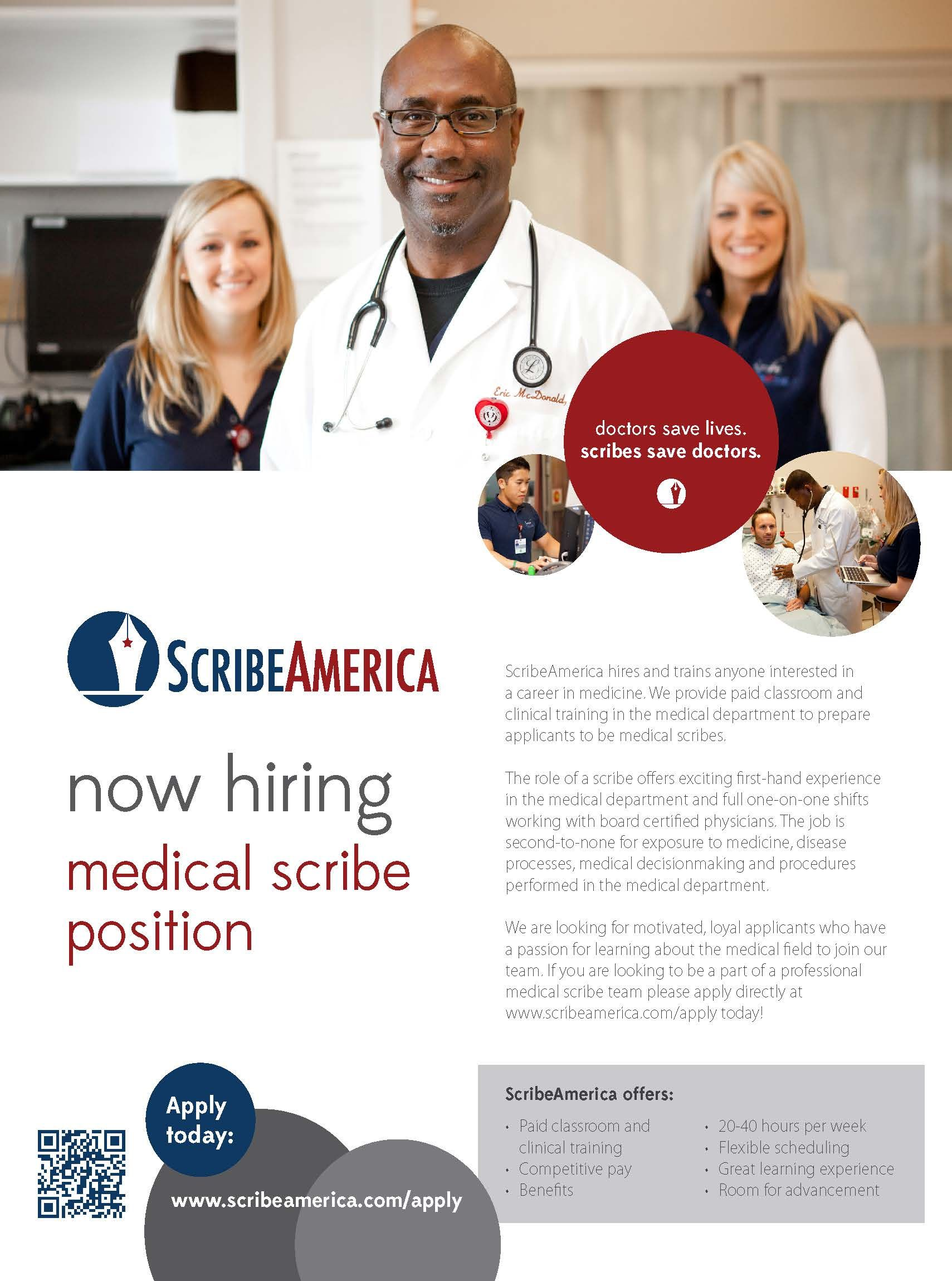 come visit scribeamerica at their information table in