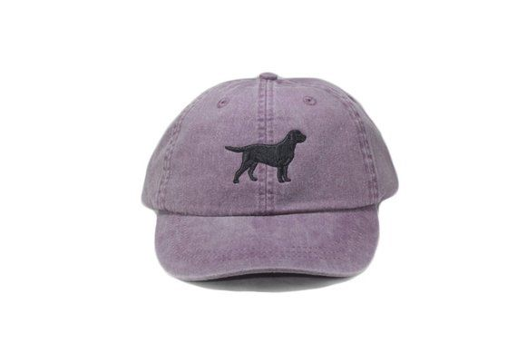 21afd9523359b Black Labrador retriever embroidered hat