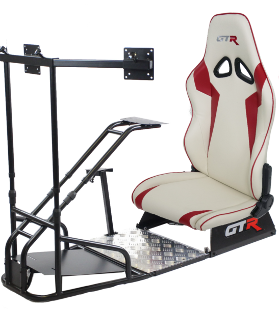 GTSF Model Black Frame with Shifter Mount Triple Monitor