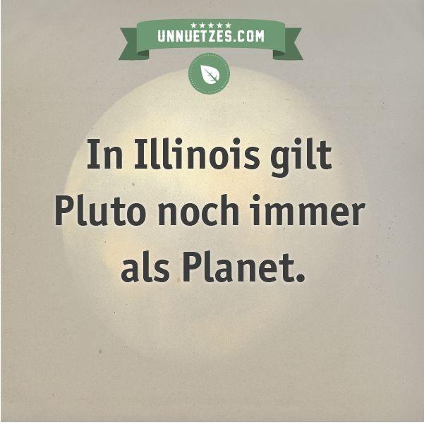 Deshalb ist Pluto in Illinois noch ein Planet: http://www ...