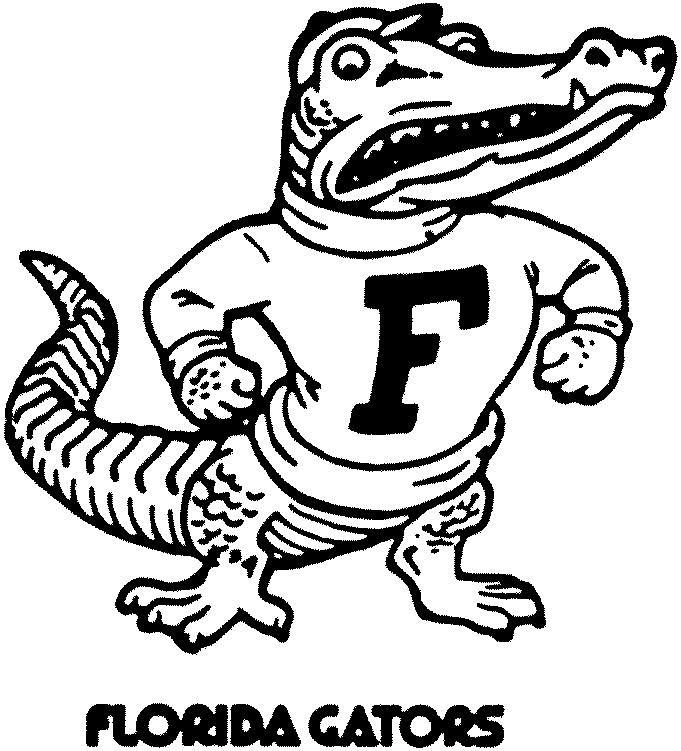 University of florida mascot coloring pages ~ florida gators pictures logo - Google Search   Picture ...