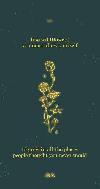 Free Motivational Mobile Wallpaper: Neon Wildflowers