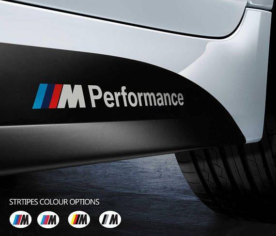 2 x bmw m performance side skirt car vinyl sticker bumper window decal graphic