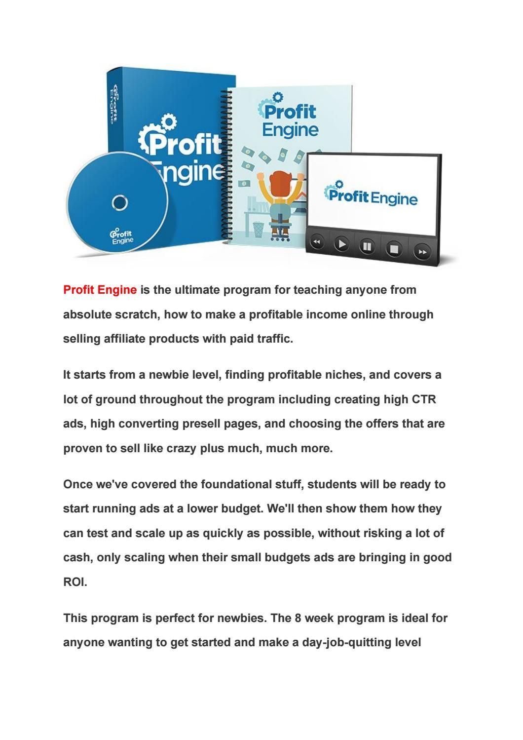 Profit Engine Review [2018] - Mark Ling Profit Engine PDF