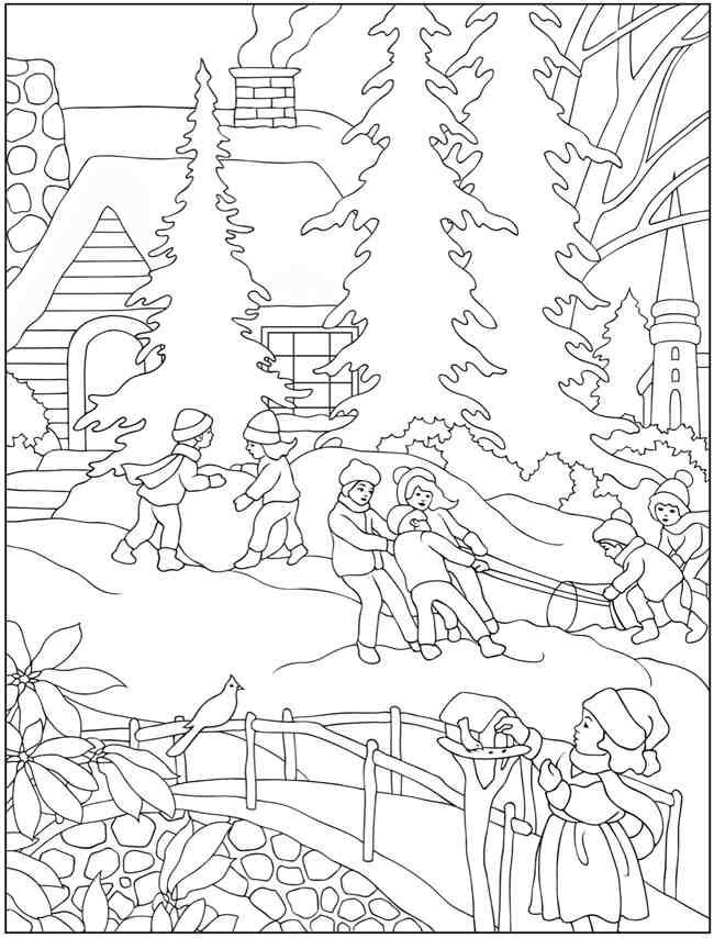 Winter | Coloring Books | Pinterest | Weihnachten