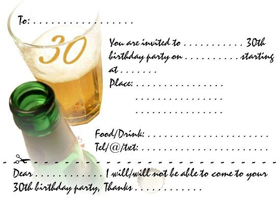 Download Now 30th Birthday Party Invitations Ideas Download this - birthday party invitation informal letter