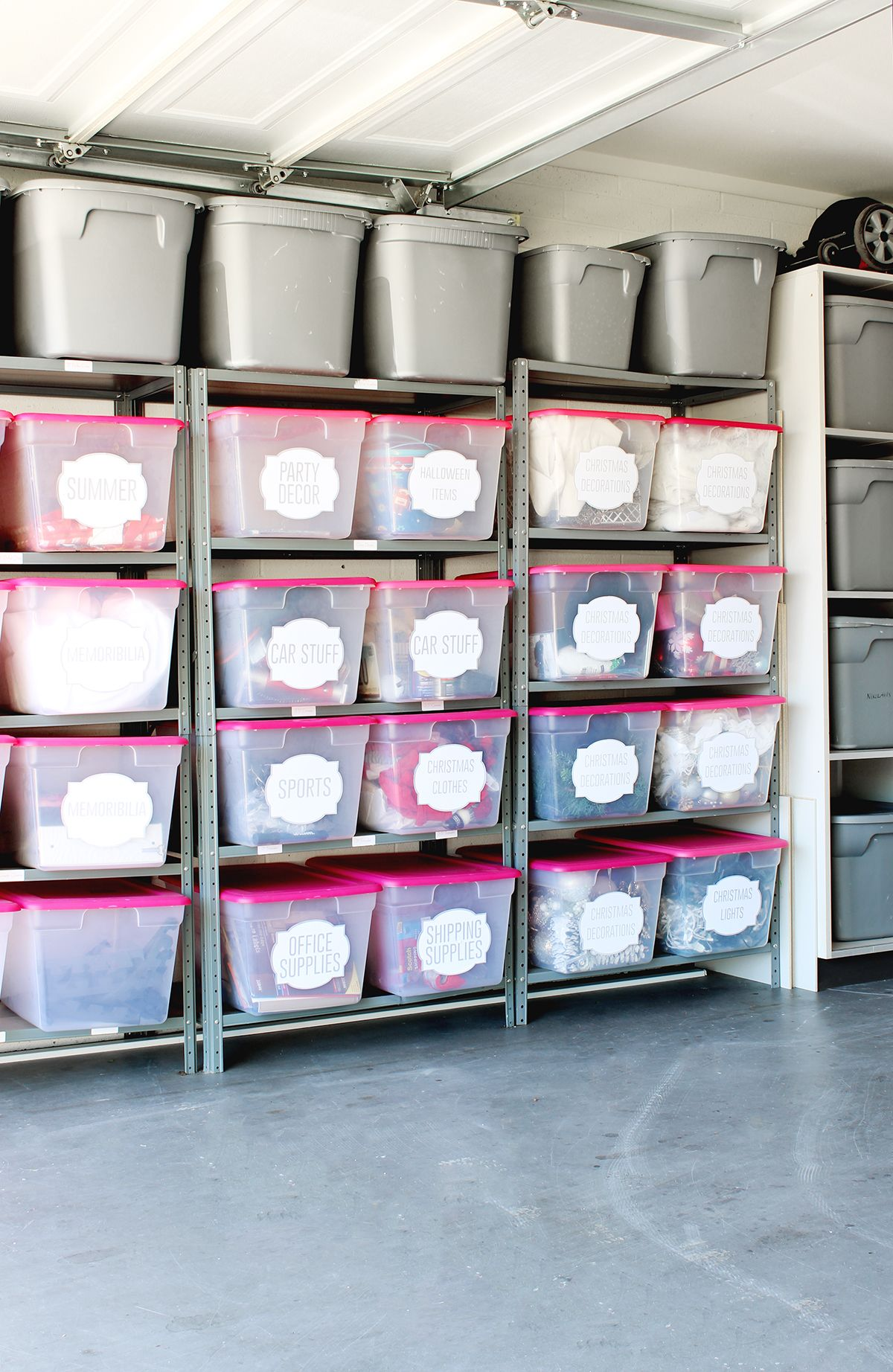 Merveilleux LOVE This Garage Organization! The Labels And Bins Are Amazing! Click For  Tutorial!