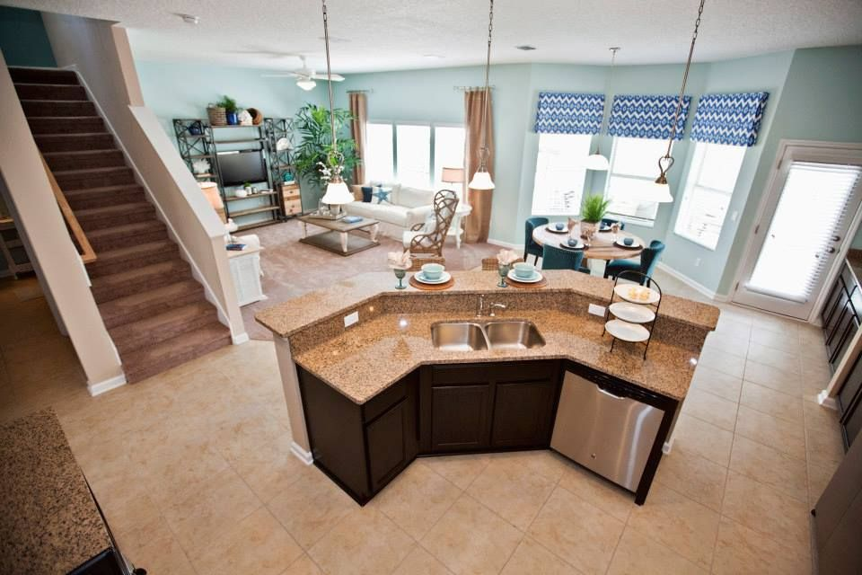 Beautiful coastal kitchen design inside the \