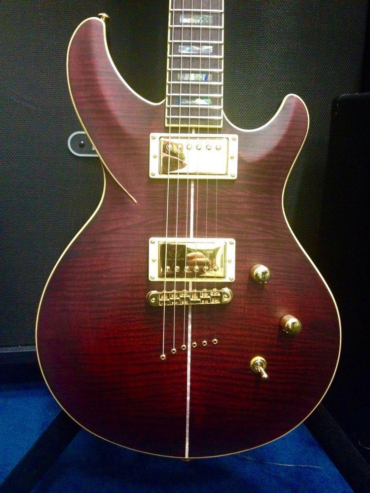 New 2015 Dbz Diamond Monarch Fm Sru Satin Ruby Burst Electric Guitar Pre Order Guitar Electric Guitar Guitars For Sale