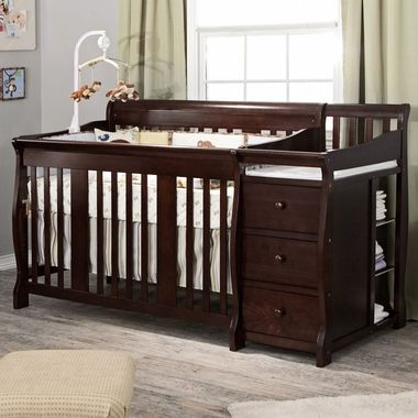 Storkcraft Espresso Portofino 4 In 1 Fixed Side Convertible Crib Changer Combo FREE SHIPPING