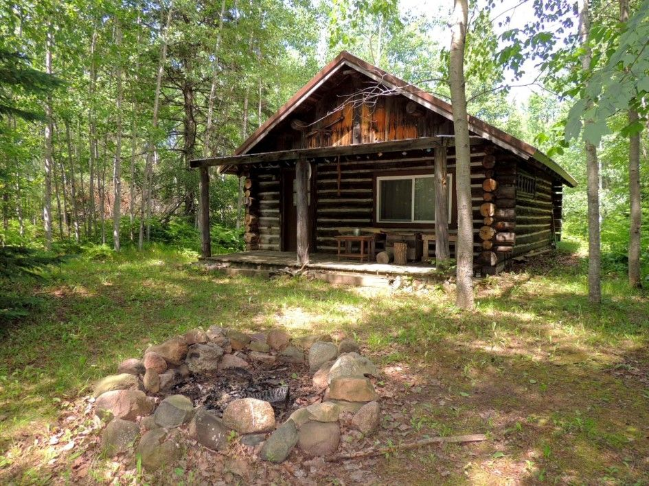 Little Log Cabin With River Frontage In Clam Lake Wi Log