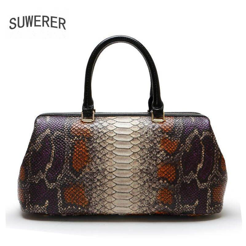 SUWERER 2018 new genuine leather women bags fashion luxury Serpentine women bags  designer bag handbags women famous brands  womensdesignerbags   ... 0e187809fbf8b