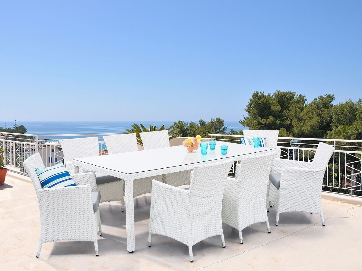 Fesselnd Rattan Gartenmöbel Set Tisch 8 Sessel Stühle Sitzgr |