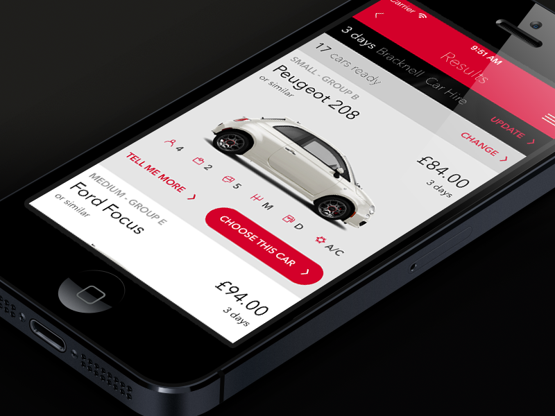 Car rental app | Mobile UI Examples | Car rental, Car app, Mobile