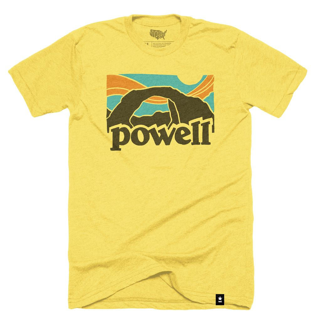 ae9e404d63e Size Chart The Stately Type Lake Powell Vintage t-shirt represents a homage  to the classic 70 s era Patagonia tees. It features the word