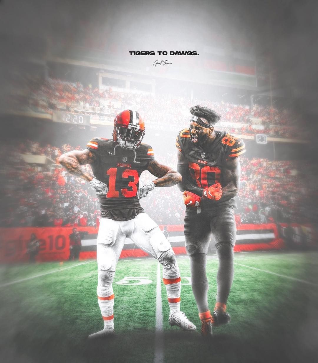 Grant Thomas On Instagram Tigers To Dawgs Odell Beckham