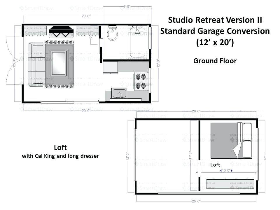 Image Result For 12 X 20 Studio Apartment Garage Apartment Floor Plans Studio Floor Plans Garage Conversion