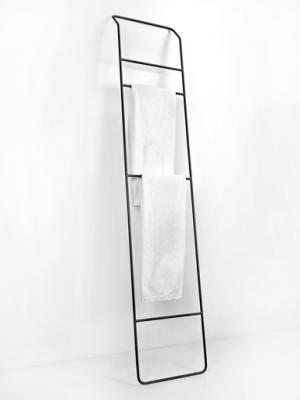JUNO Handdoekrek hoog 40x200 zwart | toilet-badkamer | Pinterest