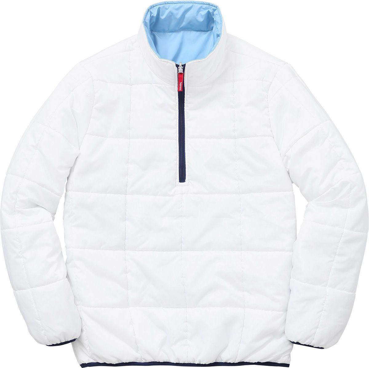 Supreme Reversible Pullover Puffer Pullover Streetwear Fashion Street Wear [ 1195 x 1200 Pixel ]